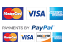 We accept Mastercard, Visa, American Express, Discover and PayPal